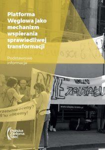 Platforma Węglowa jako mechanizm wspierania sprawiedliwej transformacji. Podstawowe informacje (2019)