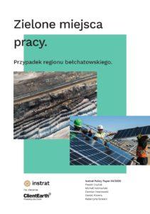 """Raport """"Zielone miejsca pracy dla regionu bełchatowskiego"""""""